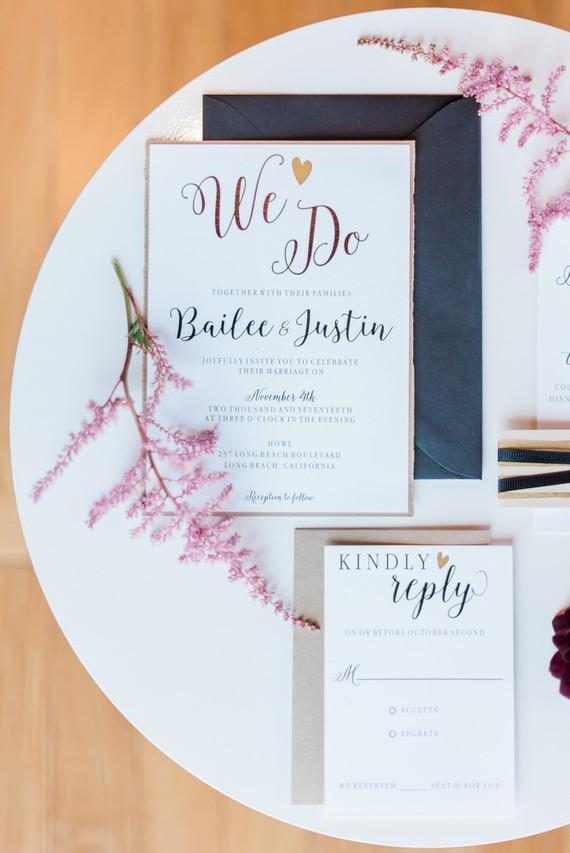 Simple Wedding Invitation to Make at Home