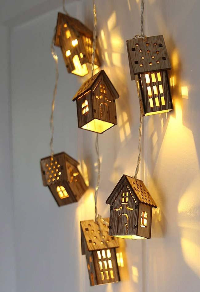Wooden cottages illuminate and decorate with much grace and charm