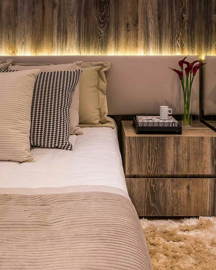Upholstered headboard: 60 ideas and references to use in decorating 8