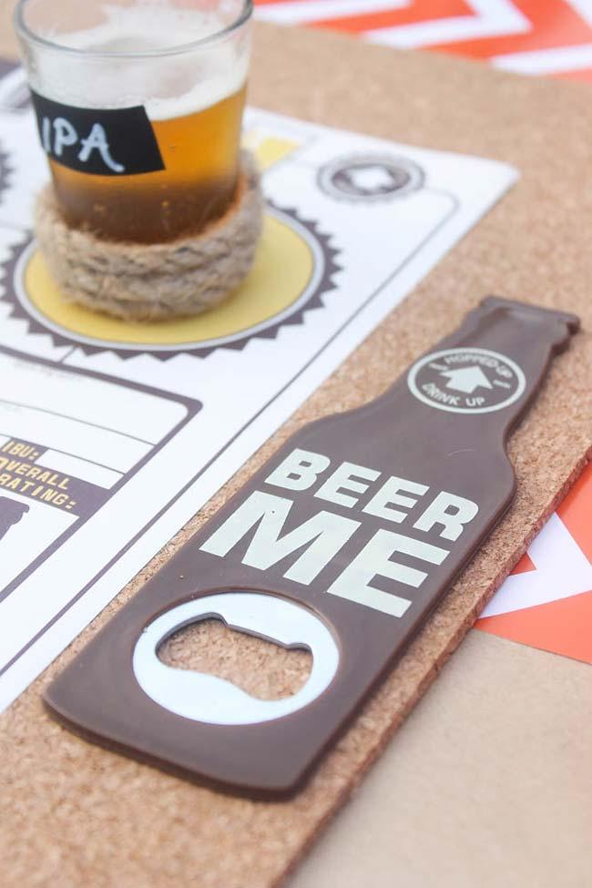 Bottle opener for party booth
