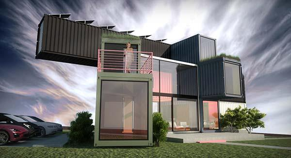 Highly sustainable container house