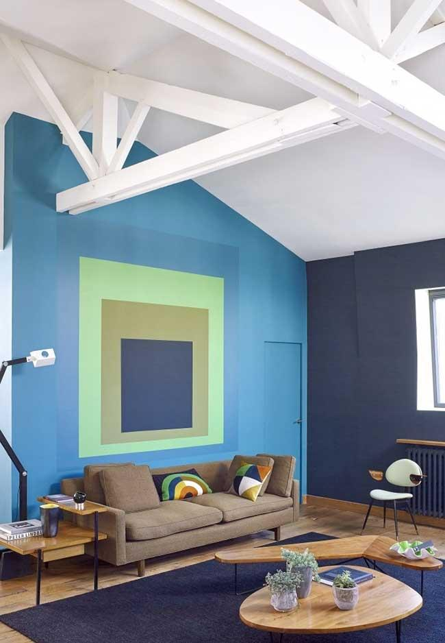 Combination of green and brown blue in inviting environment