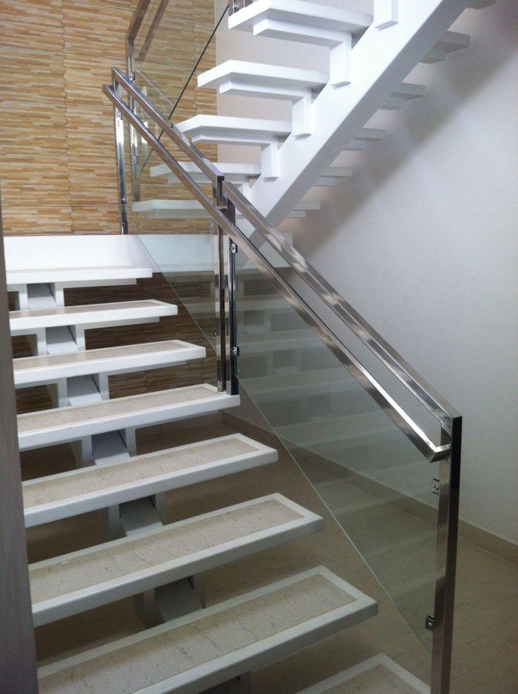 Stainless steel handrail: see tips and 60 models with photos 46