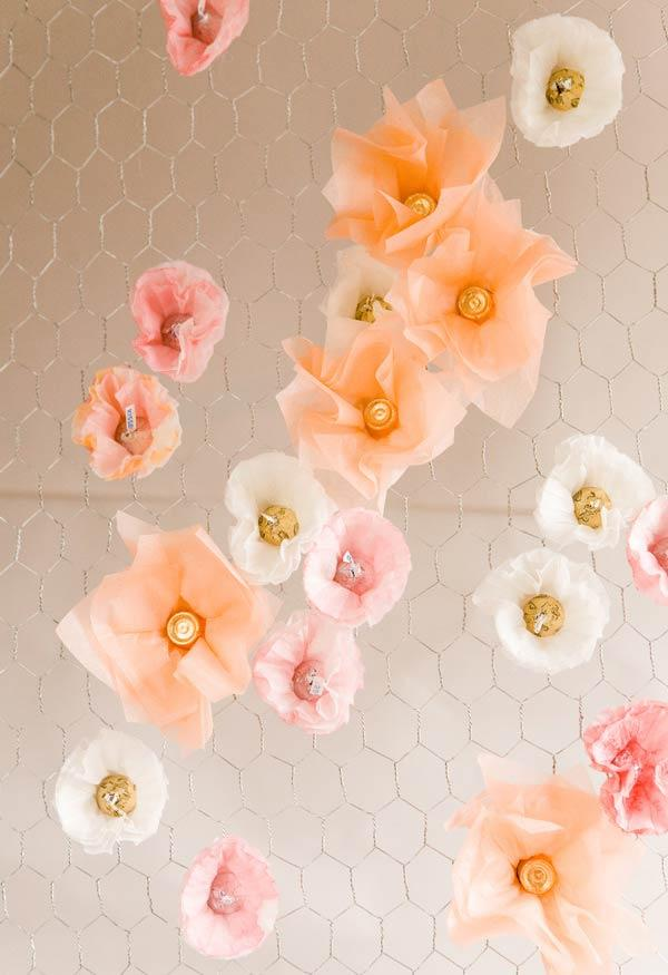 Details of flowers with coffee filter