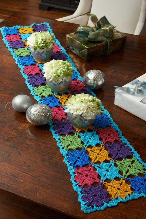 Super colorful table runner