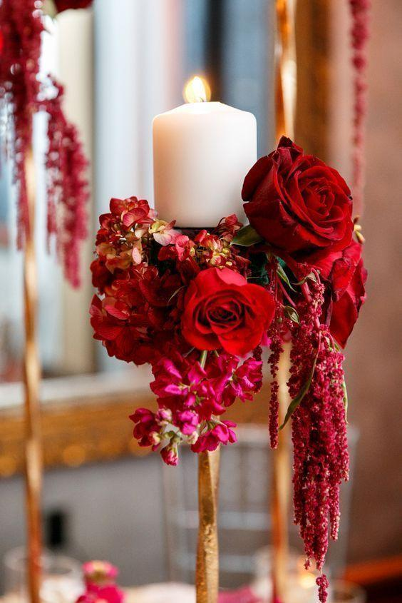 Wedding arrangements: 70 ideas for table, flowers and decoration 65