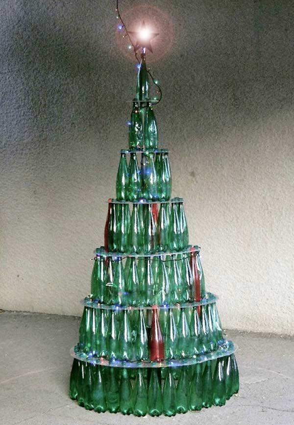 Bottle stacked tree