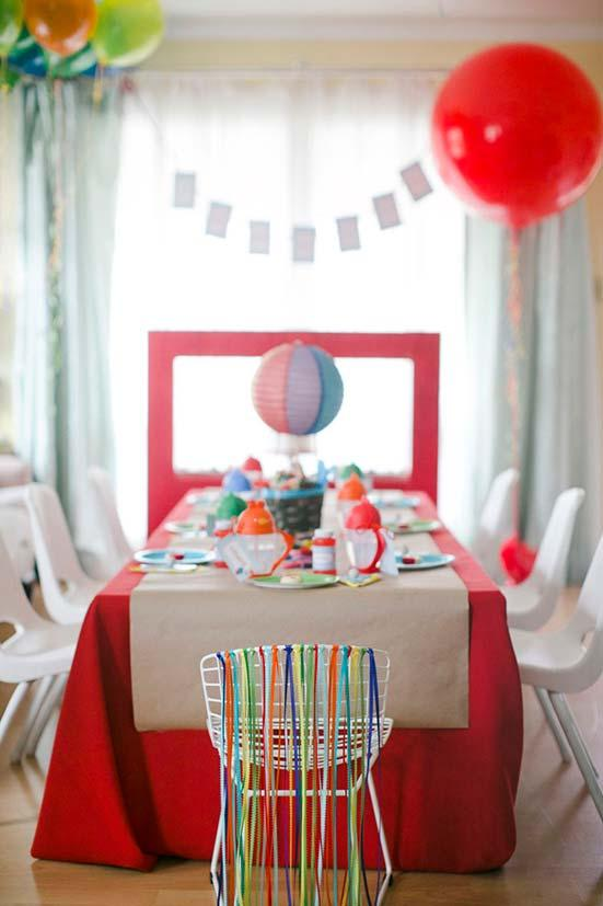 Chair of birthday party decorated in a special and differentiated way