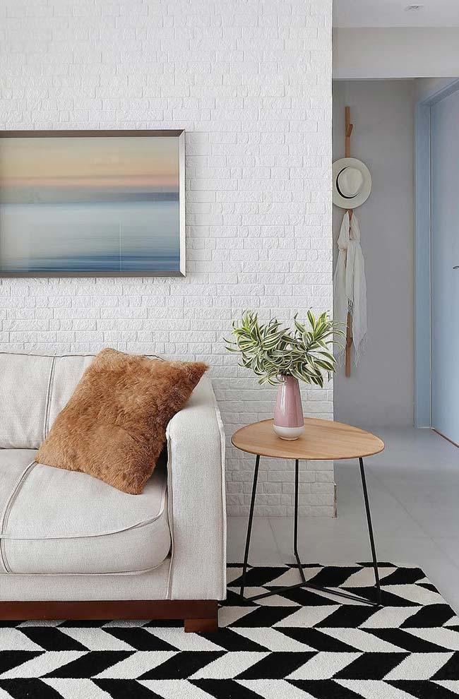 Chic rustic decor on the wall and floor