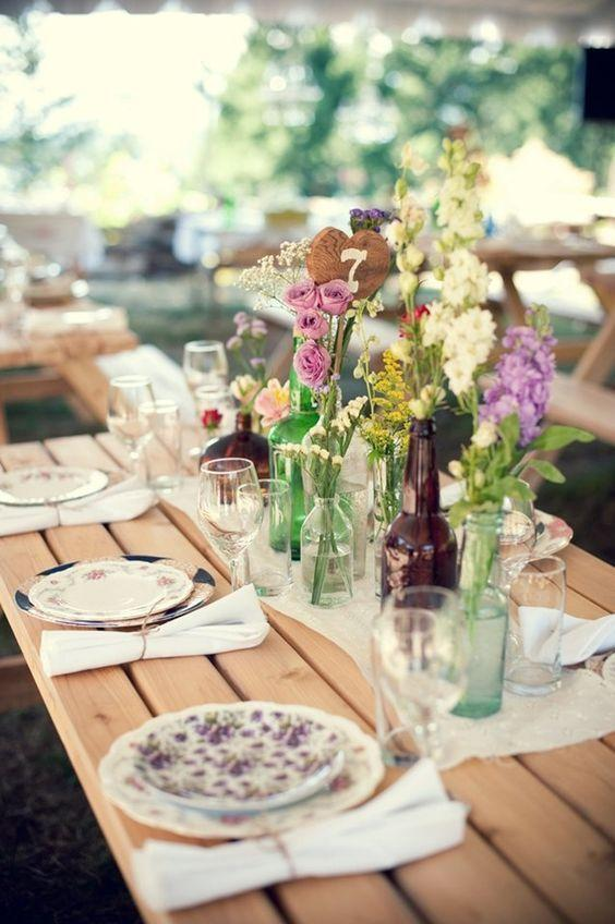 Table Top with Bottle: see beautiful ideas to decorate the table 42