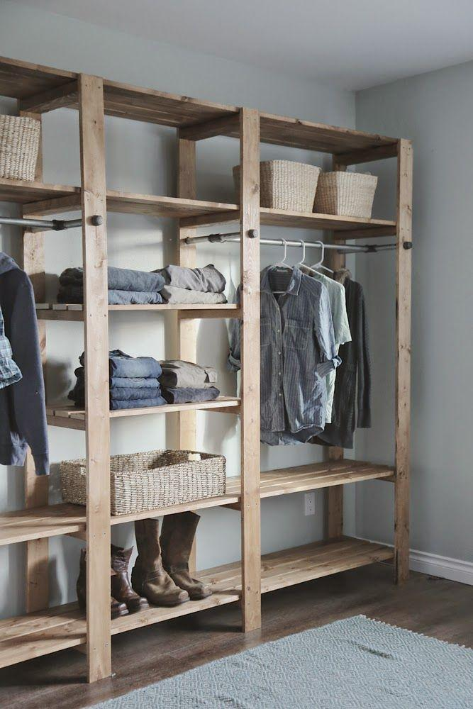 Pallet wardrobe for couple
