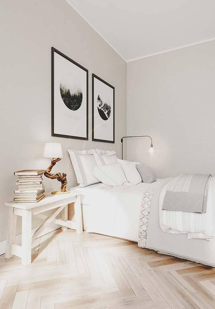 Clean decor with antique furnishings
