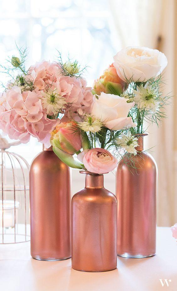 Table Top with Bottle: See Beautiful Ideas for Decorating the Table 14