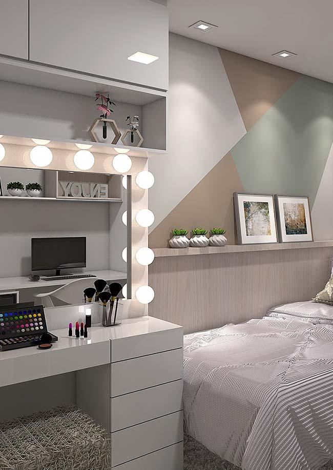 Dressing table dressing room built into the bedroom furniture