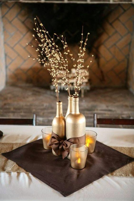 Table Top with Bottle: See Beautiful Ideas to Decorate the Table 9