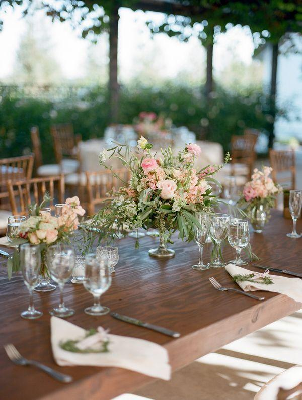 Wedding arrangements: 70 ideas for table, flowers and decoration 40