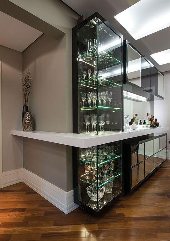 Wall bar: 60 amazing designs, designs and photos 16