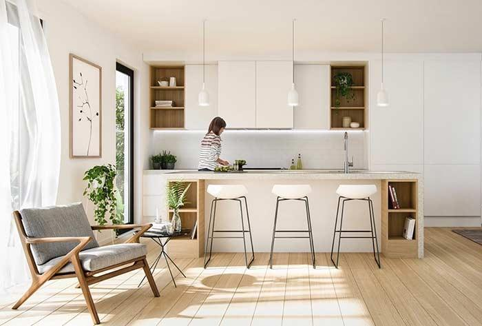 Kitchen table that combines and harmonizes with the decorating style of the environment