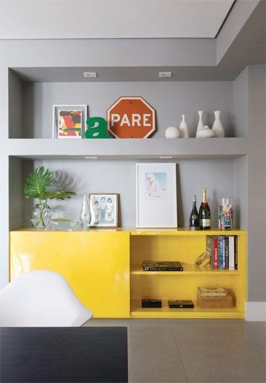 Plaster shelf: advantages and 60 projects to inspire 58