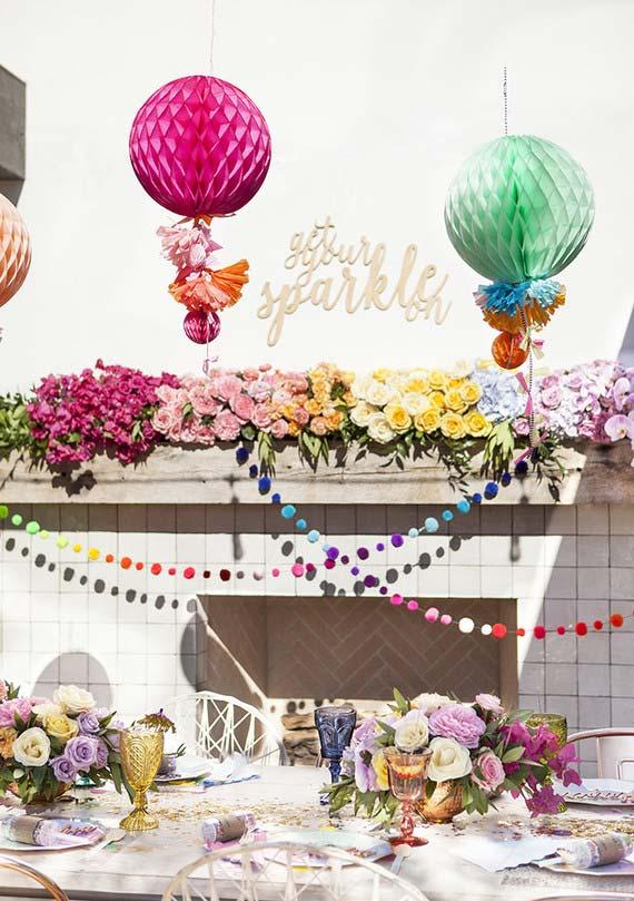 Party decoration for 15 years outdoors