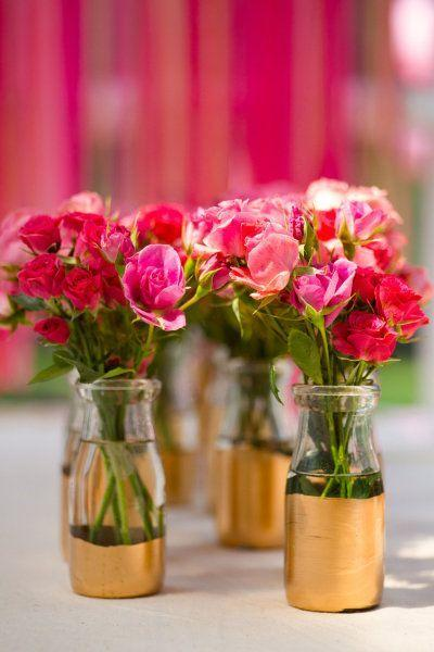 Table top with bottle: see beautiful ideas to decorate the table 27