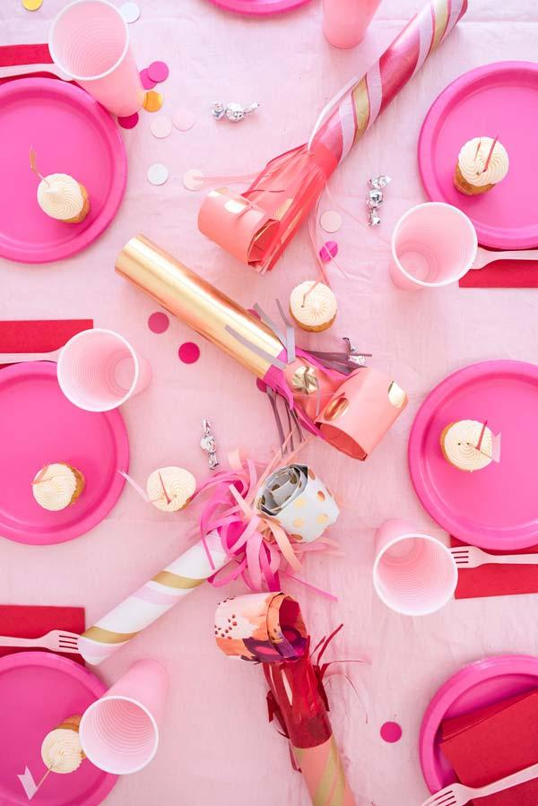 Party table decoration with cutlery