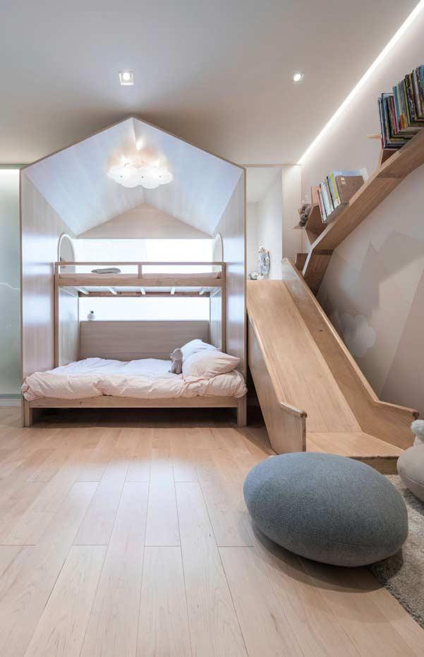 Playful air in the wooden headboard