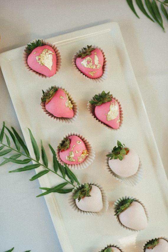 Strawberries decorated