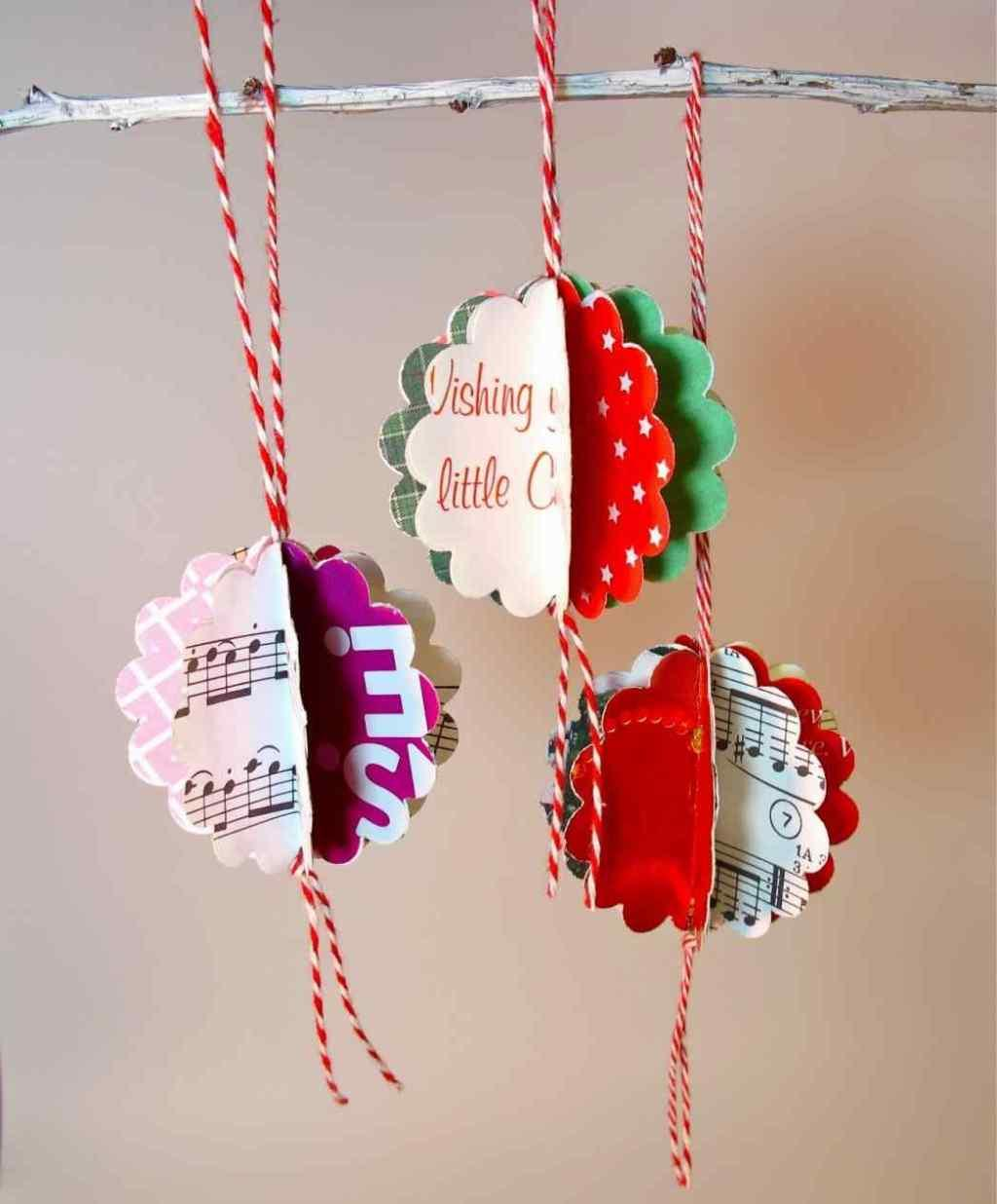 Christmas ornament with cutouts