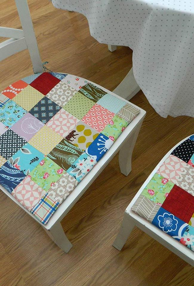 Chair seat with patchwork