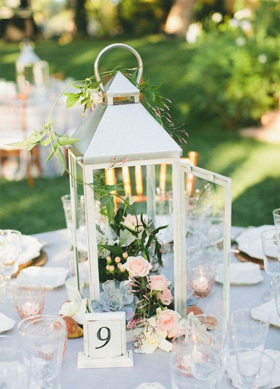 Wedding arrangements: 70 ideas for table, flowers and decoration 26