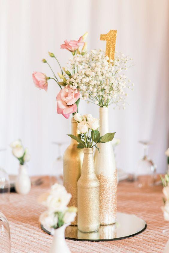 Table Top with Bottle: See Beautiful Ideas to Decorate the Table 4