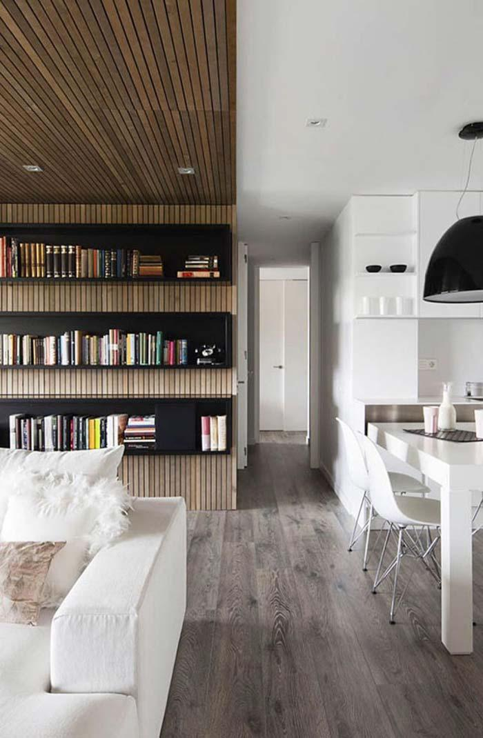 Wooden lining in just one room