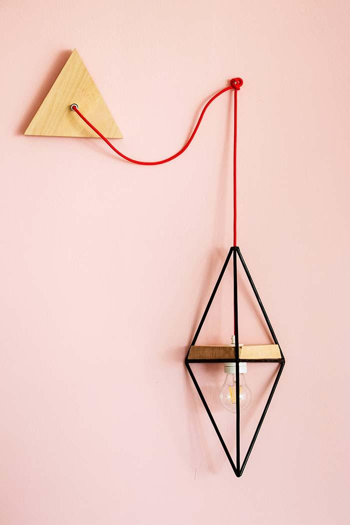 Simple and original wooden lamp