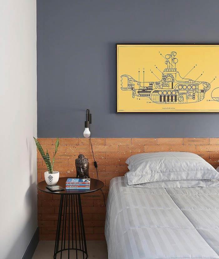 Use material from the work to make the headboard