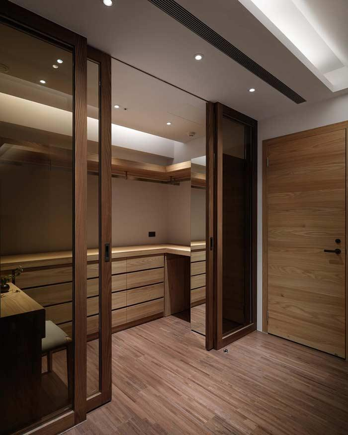 Closet with glass door