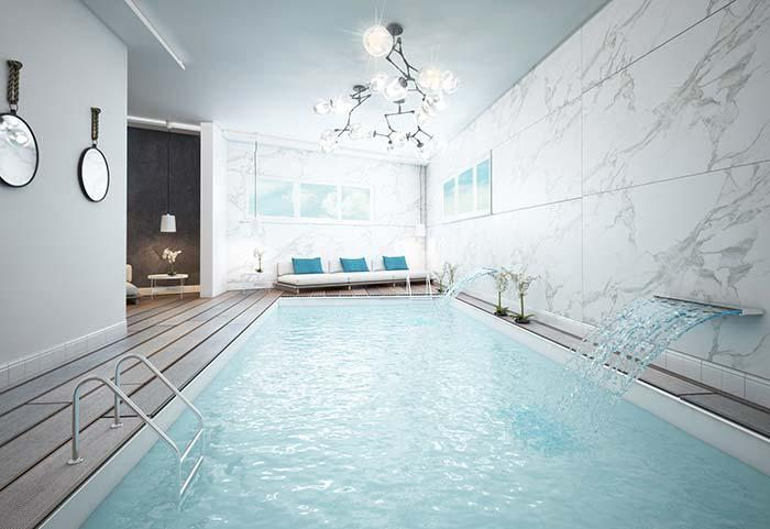 Indoor pool on the floor
