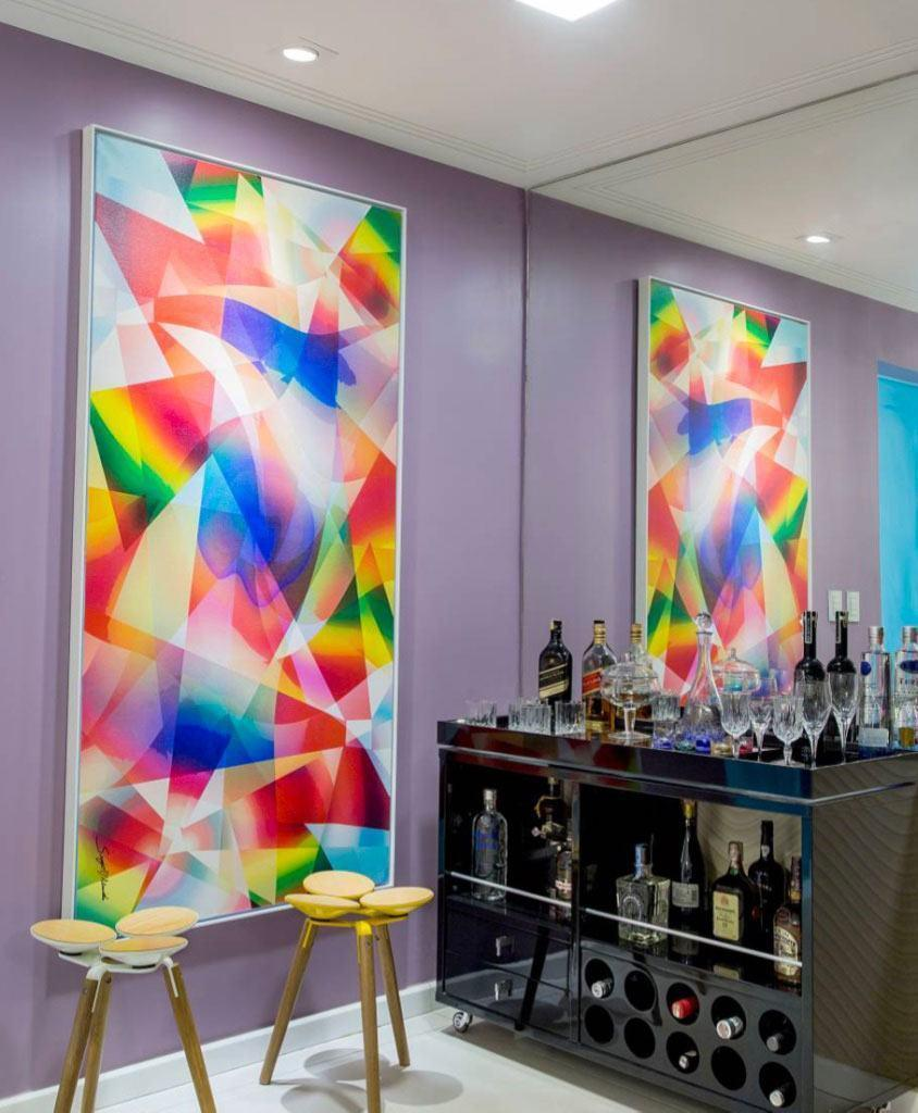 Wall bar: 60 amazing designs, designs and photos 45