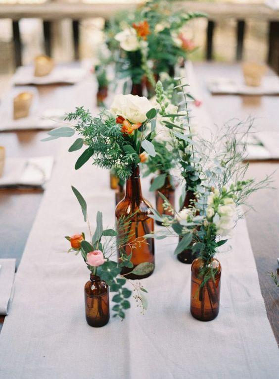 Table Decoration with Bottle: see beautiful ideas to decorate the table 3