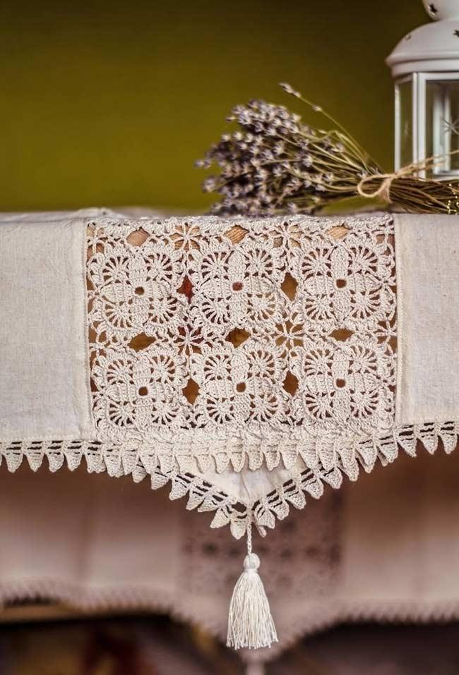 Crochet towel: ideas to add table decoration 10
