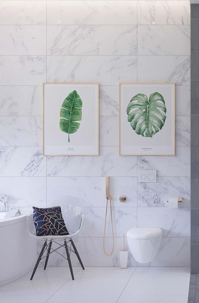Modern and sophisticated: Piguês marble does not save charm in decoration