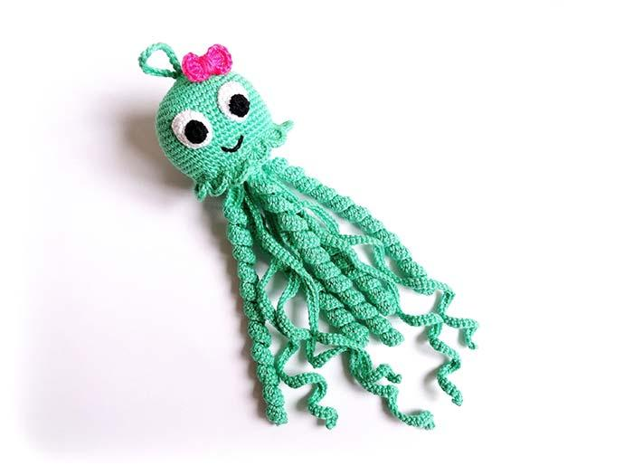Green Crochet Octopus