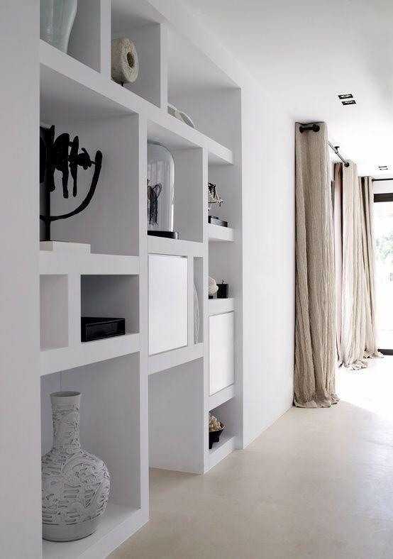 Plaster shelf: advantages and 60 projects to inspire 16