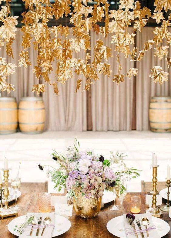 Wedding arrangements: 70 ideas for table, flowers and decoration 31