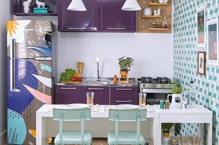 A colorful look for furniture and refrigerator