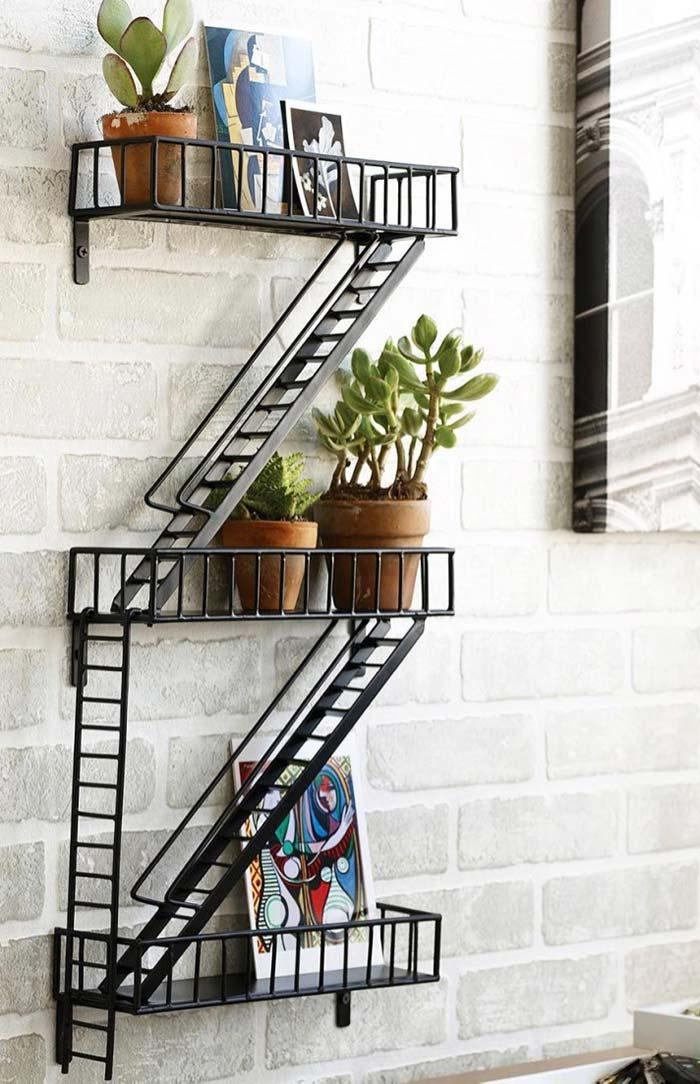 Creative idea: shelves-fire escape