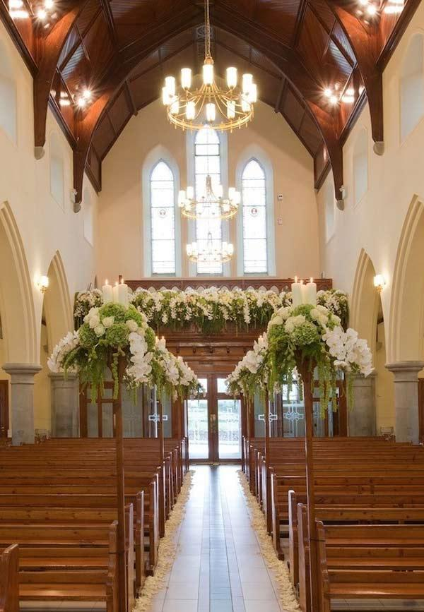 Church Decorating for Marriage: 60 Creative Ideas to Be Inspired 14