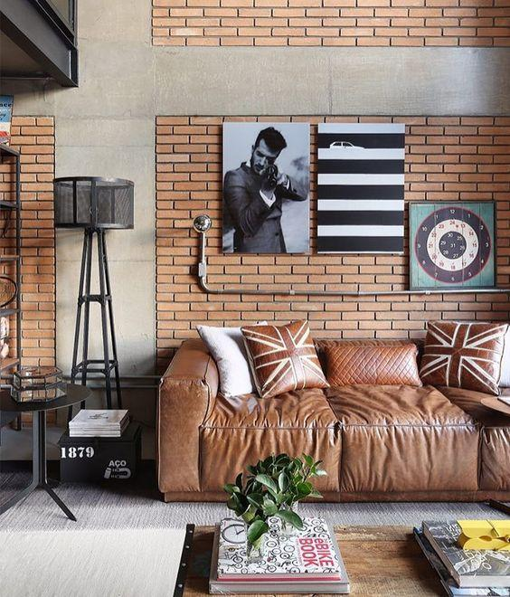 Leather sofa: 70 incredible models to decorate environments 10
