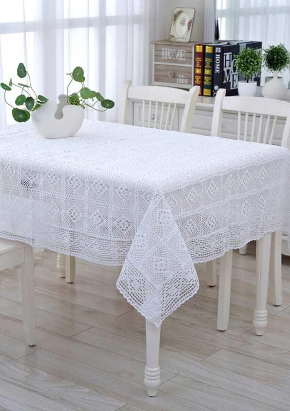 Crochet towel: ideas to add table decoration 5