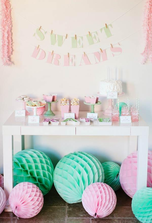 Soft candy and colors in the decoration